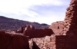 Ruinas de Wupatki Imágenes de archivo libres de regalías