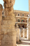 Ruinas del amphitheatre romano, Lecce, Italia Fotografía de archivo libre de regalías