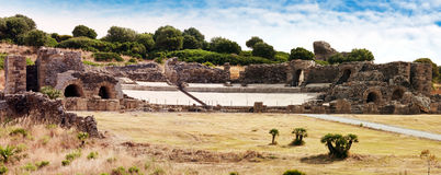 Ruinas del anfiteatro romano, province  Cadiz, Andalucia, Spain Stock Image