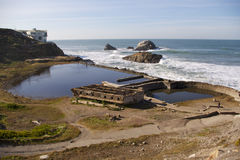 Ruinas del baño de la casa del acantilado Fotografía de archivo libre de regalías