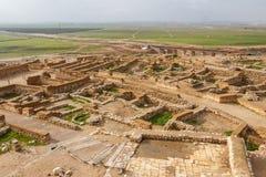 Ruinas del Beer Sheva bíblico, teléfono Be& x27; er Sheva fotos de archivo libres de regalías