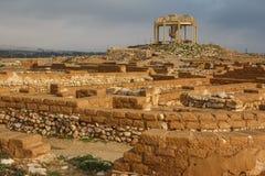 Ruinas del Beer Sheva bíblico, teléfono Be'er Sheva imagenes de archivo