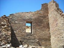 Ruinas del bonito del pueblo en el barranco de Chaco, Arizona fotografía de archivo libre de regalías