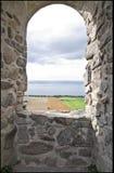Ruinas del castillo de Brahehus foto de archivo libre de regalías