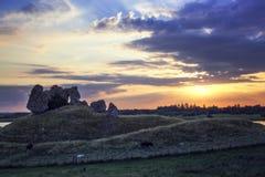 Ruinas del castillo de Clonmacnoise fotografía de archivo libre de regalías