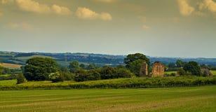 Ruinas del castillo de Codnor. Fotos de archivo
