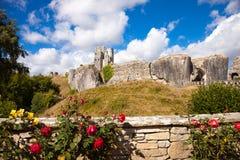 Ruinas del castillo de Corfe, Dorset, Inglaterra Foto de archivo libre de regalías