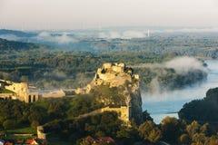 Ruinas del castillo de Devin Fotografía de archivo libre de regalías