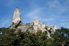 Ruinas del castillo de Durnstein en Austria Imagen de archivo