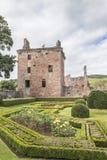 Ruinas del castillo de Edzell en Edzell en Escocia Imágenes de archivo libres de regalías