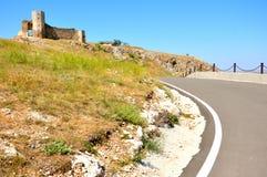 Ruinas del castillo de Enisala en Rumania imagen de archivo libre de regalías
