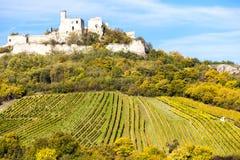 Ruinas del castillo de Falkenstein Foto de archivo