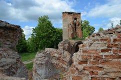 Ruinas del castillo de Golshanskiy Foto de archivo