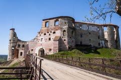 Ruinas del castillo de Janowiec Imagenes de archivo