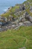 Ruinas del castillo de Kinbane Fotos de archivo libres de regalías