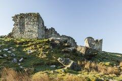 Ruinas del castillo de Rothley, Northumberland inglaterra Reino Unido Foto de archivo libre de regalías