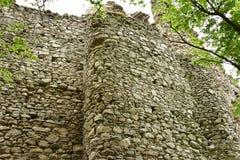 Ruinas del castillo de Vinné Fotografía de archivo