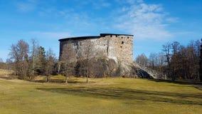 Ruinas del castillo del raasepori imagenes de archivo
