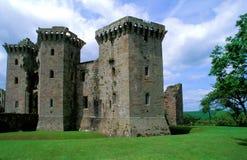 Ruinas del castillo del raglán, País de Gales Fotografía de archivo