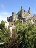 Ruinas del castillo en Francia Foto de archivo libre de regalías