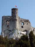Ruinas del castillo en Mirow Fotos de archivo libres de regalías