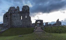 Ruinas del castillo Glamorgan Reino Unido de Ogmore Fotografía de archivo