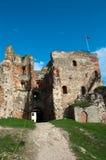 Ruinas del castillo medieval Fotografía de archivo