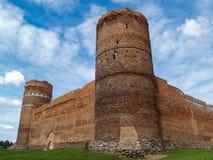 Ruinas del castillo medieval en Ciechanow, Polonia Foto de archivo libre de regalías