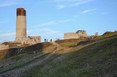Ruinas del castillo (Olsztyn) Imagen de archivo