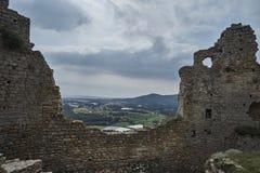 Ruinas del castillo Palafolls Fotos de archivo