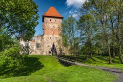 Ruinas del castillo del renacimiento en Chudow foto de archivo libre de regalías