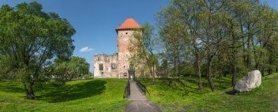 Ruinas del castillo del renacimiento en Chudow foto de archivo