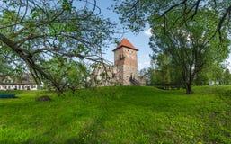 Ruinas del castillo del renacimiento en Chudow fotografía de archivo libre de regalías