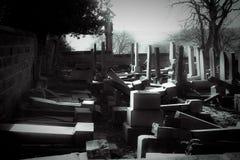 Ruinas del cementerio fotografía de archivo
