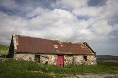 Ruinas del cercado en Aldivalloch en el Cabrach en Escocia Imagen de archivo