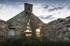 Ruinas del cercado en el Cabrach, Escocia Imágenes de archivo libres de regalías