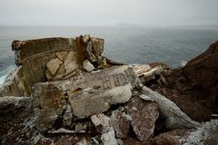 Ruinas del concreto fotos de archivo