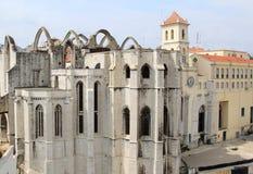 Ruinas del convento de Carmen, Lisboa, Portugal Fotografía de archivo