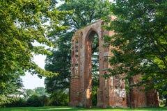 Ruinas del convento de Eldena cerca de Greifswald Fotos de archivo libres de regalías