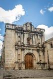 Ruinas del convento de Las Capuchinas - Antigua, Guatemala fotografía de archivo
