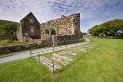 Ruinas del convento de monjas de Iona fotos de archivo