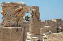 Ruinas del curio, Chipre Imagen de archivo libre de regalías
