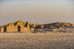 Ruinas del desierto de Egipto imagenes de archivo