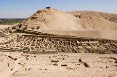 Ruinas del EL Medina, Luxor de Deir Imagen de archivo