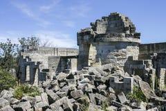 Ruinas del faro de San Jorge del cabo Parque nacional de Booderee NSW Imagen de archivo