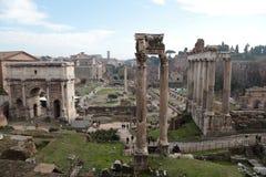 Ruinas del foro romano Foto de archivo libre de regalías