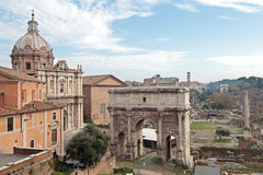 Ruinas del foro romano Imagen de archivo libre de regalías