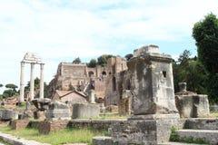Ruinas del foro Romanum fotografía de archivo