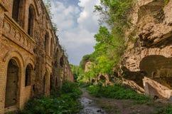 Ruinas del fuerte antiguo Tarakanov, Dubno, región de Rivne, Ucrania Fotografía de archivo libre de regalías