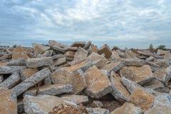 Ruinas del hormigón Imagen de archivo libre de regalías